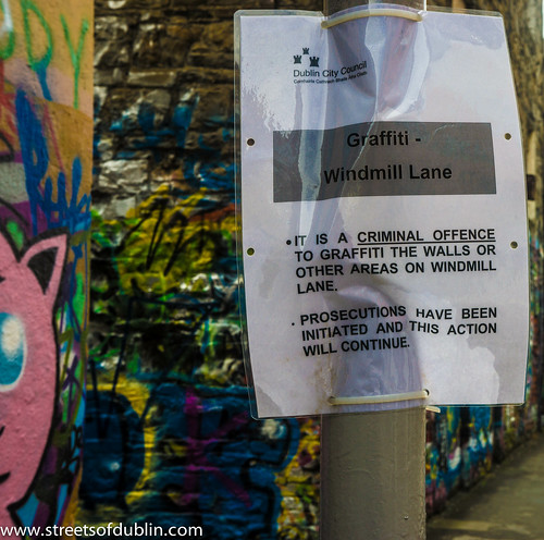 It Is A Criminal Offence To Graffiti The Walls Or Other Areas On Windmill Lane
