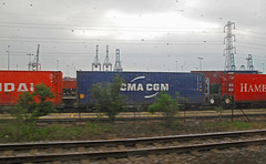 Passing Southampton Docks. 1. (jamez58) Tags: may visit portsmouth 20th 22nd 2013