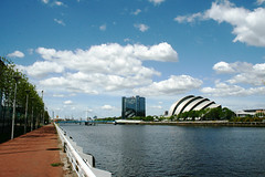 View from STV (roslynsmith) Tags: bridge sky clouds clyde glasgow arc secc squinty squintybridge clydearc