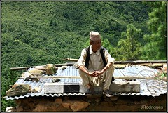 On the roof of the world... (JRodrigues.) Tags: nepal roof man asia candid 2010 nagarkot img0550