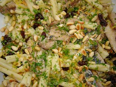 Pasta with Sardines 4 (Couscous & Consciousness) Tags: fish recipe lemon raisins pasta fennel sardines preservedlemons