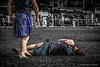 Wounded Wrestler (FotoFling Scotland) Tags: june scotland kilt wrestling scottish event wrestler kilts tartan 2012 highlandgames helensburgh kilted meninkilts upkilt