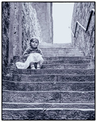 153 of 365 - Halfway Up the Stairs (fearghal breathnach) Tags: portrait monochrome beauty stairs canon photography photo blackwhite child photos candid cork wideangle kinsale innocence 365 ultrawide hdr 1022 charlesfort efs1022 fearghalbreathnach canonefs1022 httpswwwfacebookcomfergphotos