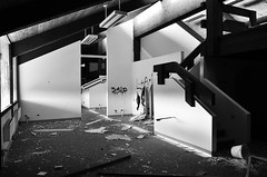 smashup (Industrial Relics Photography) Tags: light urban white black abandoned buildings running exploration ue urbex lulz scrappers ilikegoinginabandonedbuildingsitisfunandeducationalbutkindabadforyourhealthohwelliguess