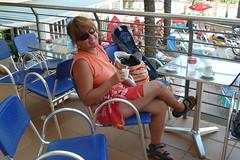 P1010721 (piotr_szymanek) Tags: spain marzka barcelona calella portrait woman girl legs shorts fashion mature glasses sunglasses outdoor milf 1k