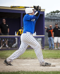 Stroke. (JacobWadowski) Tags: hat baseball ben bat diamond dugout easton homerun pinstripe xl3 shockers wadowski