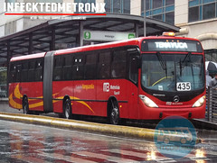 Marcopolo Mercedes Benz Gran Viale BRT Metrobus (infecktedbusgarage) Tags: bus mexico df camion mercedesbenz autobus ciudaddemexico brt marcopolo metrobus busrapidtransit articulado linea3 mb3 granviale polomex