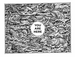 You are here (Don Moyer) Tags: sea moleskine monster ink notebook sketch map drawing wave doodle creature moyer brushpen donmoyer