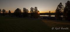 Sunset in vertorne (kjellbendik) Tags: sol europa himmel sverige rd ferie 2013 byggning geografisk naturoglandskap skogtre