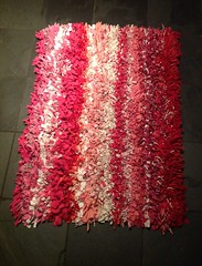 Pink T Shirt Rag Rug (UniBee) Tags: tshirt rug recycle eco rag reuse hessian upcycle