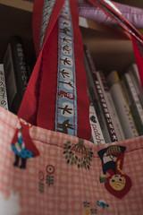 Saco Reversvel Selvage JOY I (owl_mania) Tags: crochet agosto quilting patchwork saco fabrics galo tecidos selvage gales 2013 tecidosjaponeses tecidosportugueses owlmania sacoselvage sacoempatchwork
