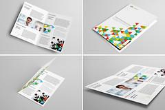 Bi-Fold Brochure 3 (Demorfoza) Tags: inspiration print design graphic brochure bi template bold pamphlet bifold
