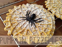Halloween Pumpkin Pizzelles (Heather Says) Tags: party food halloween cookies pumpkin recipe dessert yummy italian cookie sugar recipes ideas wafer pizzelles