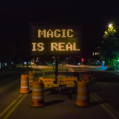 09-01-2013 (whlteXbread) Tags: 35mmf2 magicisreal roadcones roadsign 2013 boulder colorado dailies m9 night subversion summicron vandalism faceit365:date=20130901