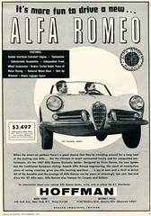 1957 Alfa Romeo Spider Advertisement Road & Track November 1957 (SenseiAlan) Tags: road november spider track advertisement alfa romeo 1957