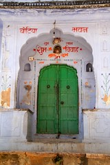 Green door (bag_lady) Tags: door india village entrance doorway rajasthan greendoor samod