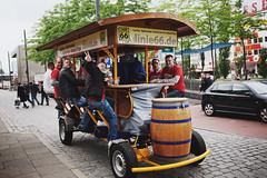 "Beer ""BigBike"" in Hamburg (cheshireboy) Tags: city urban color colour beer digital germany fun crazy raw fuji hamburg fujifilm crazypeople bigbike beerbike      gamburg    fujix100s x100s fujifilmx100s fujix100sraw fujifilmx100sraw  beerbigbike"