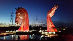 Photo of The Lighting of The Kelpies