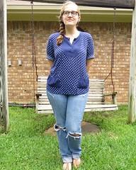 Polka Dot Pockets - After (nosmallfeet) Tags: sewing shirts refashions
