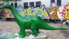 20150512_143343 (bg183tatscru@hotmail.com) Tags: train dino dinosaur canvas artists mta 1980 spraycan tatscru southbronx graffititrain bg183 muralkings graffiticanvas bestartists bestgraffiti graffiticanvases bg183tatscru
