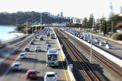 Freeway Traffic (Three Wise Frogs Photography) Tags: cars train traffic railway freeway automobiles