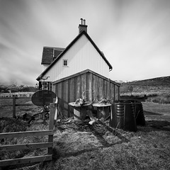 Corrour Station House (Mark Rowell) Tags: longexposure bw 120 6x6 film mediumformat scotland highlands fuji hasselblad acros corrour swc 903 weldingglass