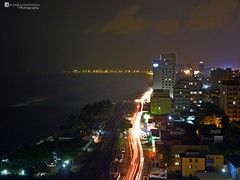 Night lights of colombo city