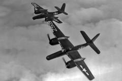 VMF(N)-534 F7F-3N Tigercats (skyhawkpc) Tags: grumman vmfn534 f7f3n tigercat z59 z60 inflight 1946 officialusnavy buno