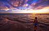 free spirit (Bec .) Tags: bec canon 450d 1022mm semaphorepark beach ocean sunset water coast shore boy son micah reflection ship feet love freespirit autism