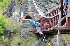 """Second #bungeejumping at the #Kawaraubridge in Queenstown, New Zealand. #itravelanddance March 2010 • <a style=""""font-size:0.8em;"""" href=""""http://www.flickr.com/photos/147943715@N05/29531230984/"""" target=""""_blank"""">View on Flickr</a>"""