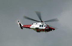 G-CILN going out. (aitch tee) Tags: cardiffairport helicopter coastguard rescue agustawestland gciln cwlegff maesawyrcaerdydd walesuk aw139 bristowsar bristowhelicopter