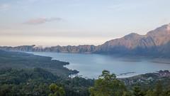Lake and Mount Batur (HansPermana) Tags: bali indonesia travel trip holiday landscape lake mountain gunungbatur danaubatur sunset water trees green