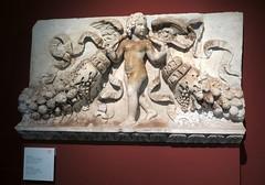 Pergamon Museum in Berlin - Eros carrying garlands (Sokleine) Tags: museum muse pergamonmuseum trajan trajaneum sculpture antiquities historic archeology berlin deutschland germany allemagne eros relief guirlandes rome
