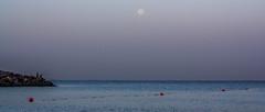 Early Morning (Emi.R.) Tags: fishermen summer beach ocean landscape gulf fishing sky moon ajman uae early sea unitedarabemirates ae