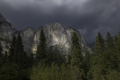 Light on the Cliff Face (dcnelson1898) Tags: yosemitenationalpark california sierranevadamountains sierranevada sierranevadas mountains nps granite glacier outdoors valley yosemitevalley