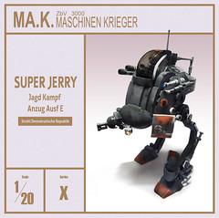 Super Jerry - Ma.ktober2016 (Brixnspace) Tags: maktober mak maschinenkrieger maschinen krieger walker biped