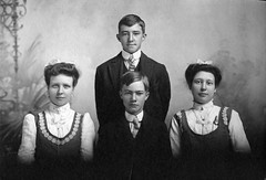 Roy and Ray Houser and Ella and Myrtle Popp
