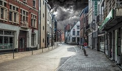 The Calm before the Storm (CosmoClick) Tags: storm calm stilte city abandoned streets clouds wolken stad straat street wow brilliant
