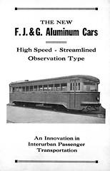 The New FJ&G Aluminum Cars 1932 cover (jsmatlak) Tags: brill bullet fonda johnstown gloversville schenectady new york interurban tram trolley streetcar electric railway