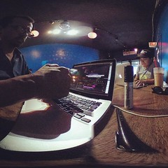 A 360 video VR editing session at the Bourgeois Pig (aka The Pig) for #dramaticsnyc #bourgeoispig (InArtMedia) Tags: instagramapp square squareformat iphoneography uploaded:by=instagram rise