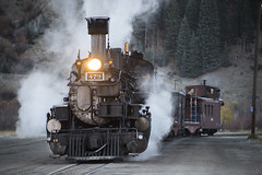 Steamin' Up 12th Street (joemcmillan118) Tags: colorado silverton photocharter k28 473 earlymorning durangosilvertonrailroad dsng railroad narrowgauge