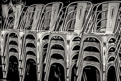 Sillas (Pedro1742) Tags: chairs blackbackground restaurant metal