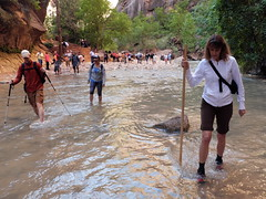 2016-09-p02-narrows-mjl-006 (Mike Legeros) Tags: ut utah zion zionnationalpark narrows river slotcanyon swiftwater wetfeet watchyourstep