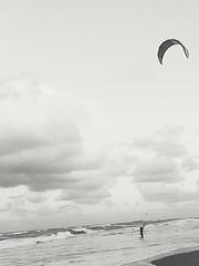 Southern Weather (drummer561) Tags: vsco junobeach florida beach palmbeachcounty beachphotography bw blackandwhite kitesurfing
