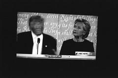 Second 2016 Presidential Debate (DannyOKC) Tags: donaltrump hillaryclinton democrat republican monochrome slowfilm television tv debate smallhands orange blackandwhite makedonalddrumpfagain theskyisfalling