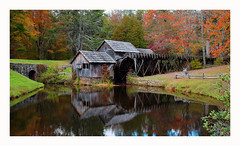 Mabry Mill Reflection (Joe Franklin Photography) Tags: mabrymill blueridgeparkway brp almostanything parkway autumn fall leaves color mill historic virginia blueridge joefranklin wwwjoefranklinphotographycom 2016