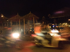Evening in Hoi An (Xnalanx) Tags: asia buildings environment hoian hut manmade moped night objects places road time vehicles vietnam