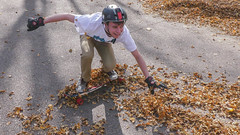 Fall problems 3 (Codydownhill) Tags: skateboard skateboarding longboard longboarding fall leaves skating street downhill south dakota autumnleaves