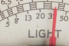 LightMeter 400X crop (dustindoust) Tags: light meter crop macro supercrop vintage antique minnesota aperture shutter noise