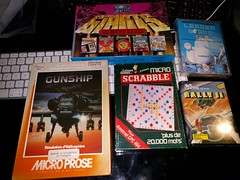 26.10.2016 (WDAsso) Tags: cassettes cassette amstrad cpc 464 rally golf scrabble gunship